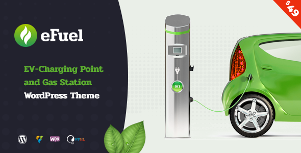 Efuel - Electric Vehicle Charging Point and Gas Station WordPress Theme