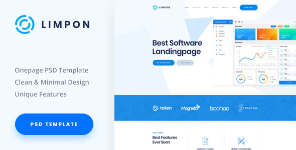 Limpon - Software Landing PSD Template