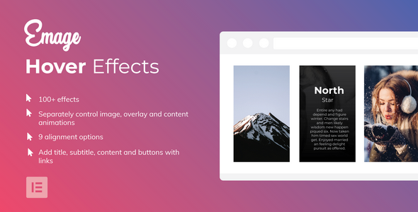 Emage – Image Hover Effects for Elementor Page Builder