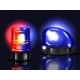 Vector Realistic Red and Blue Flashers Emergency