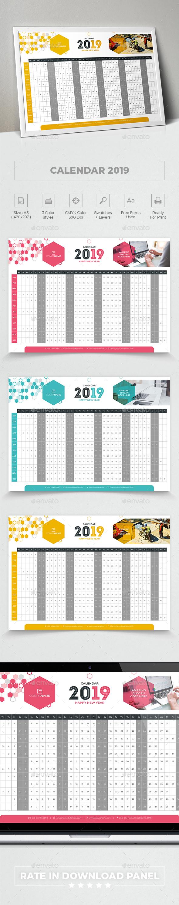 Calendar 2019 - Calendars Stationery