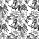 Seamless Pattern with Garden Flower Background - GraphicRiver Item for Sale