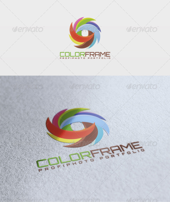 Color Frame Logo - Vector Abstract