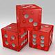 3D Red Dies - 3DOcean Item for Sale