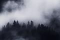 Silent dark mountain with mist - PhotoDune Item for Sale