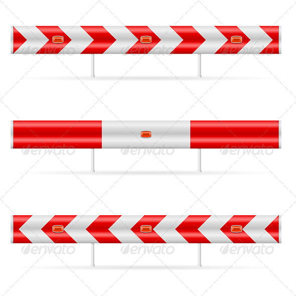 Construction barricade - Objects Vectors