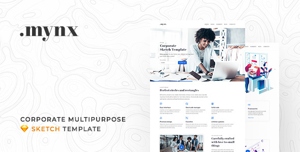 Mynx - Corporate Multipurpose Sketch Template - Sketch Templates