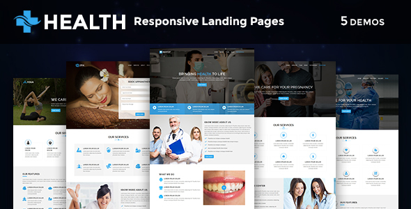 Health - Multipurpose Responsive HTML Landing Pages by evethemes