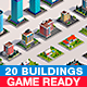 Polygonia Buildings Low Poly Pack - 3DOcean Item for Sale