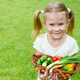 girl holding a basket of vegetables - PhotoDune Item for Sale