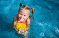 happy little girl in the pool - PhotoDune Item for Sale