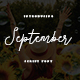 September Script Font - GraphicRiver Item for Sale
