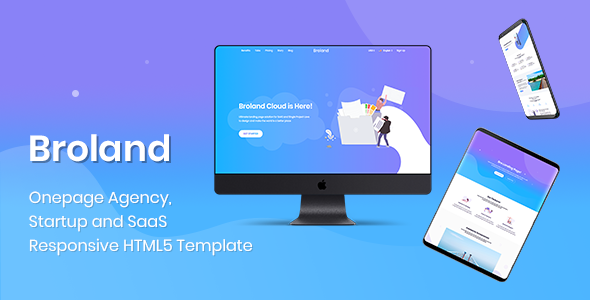 Broland - One page SaaS, Agency and Start up HTML Template