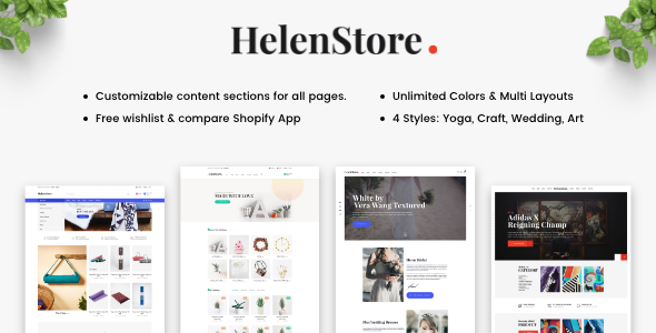 Helen - Responsive Shopify Sections Theme