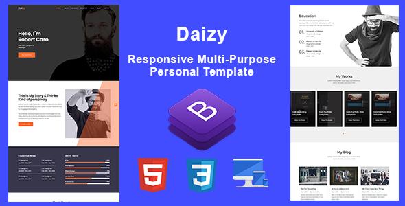 Awesome Daizy-Personal Portfolio Template