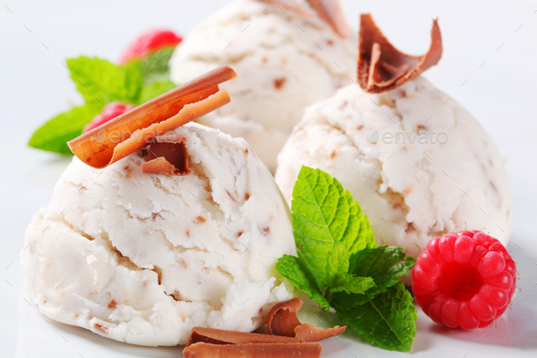 Stracciatella ice cream - Stock Photo - Images