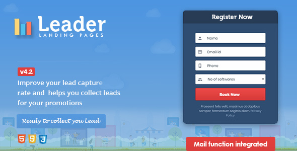 Leader Landing Pages - Marketing Corporate