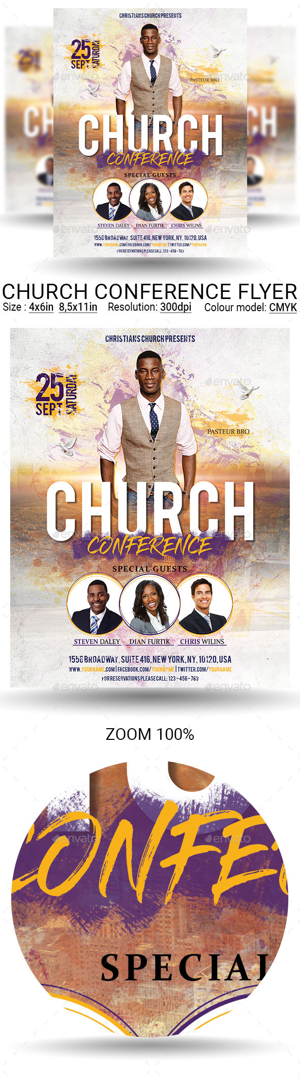 Church Conference Flyer Poster - Church Flyers