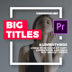 Free Download Big Typo Titles I Essential Graphics Nulled