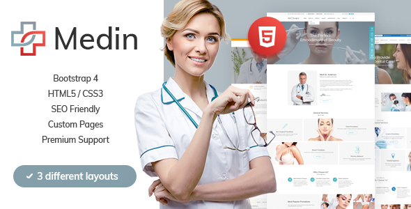 Medin - Medical Clinic HTML Template Free Download | Nulled