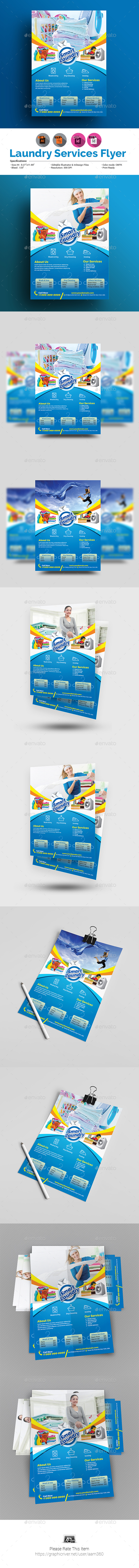 Laundry Service Flyer Template - Commerce Flyers