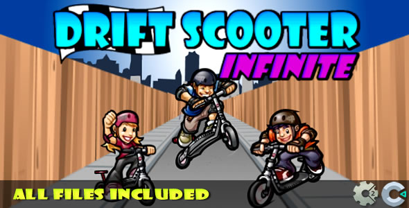 Drift Scooter / (C2 & C3 + HTML5) Game! - CodeCanyon Item for Sale