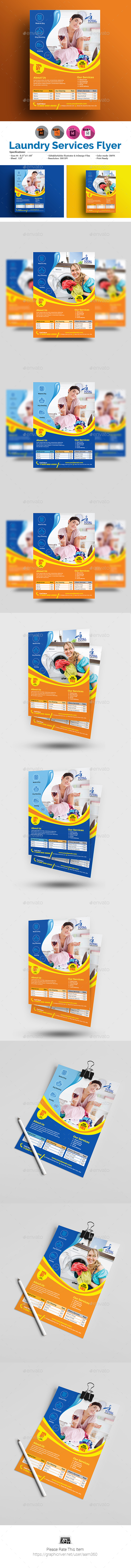 Laundry Services Flyer Template - Commerce Flyers