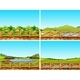 Set of Outdoor Scenes - GraphicRiver Item for Sale
