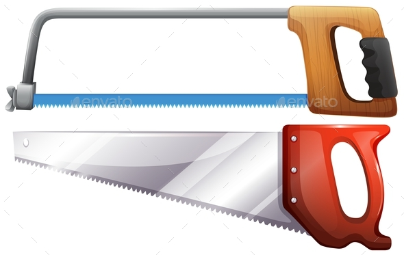 Set of Hardware Saws - Man-made Objects Objects