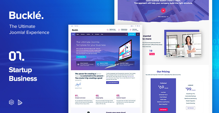 Buckle multi concept responsive joomla template by arrowthemes 08buckle startup business joomla templateg wajeb Image collections