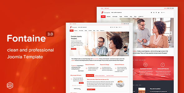 Fontaine responsive business joomla template by arrowthemes fontaine responsive business joomla template friedricerecipe Image collections