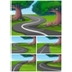 Five Scenes of Road in The Park - GraphicRiver Item for Sale