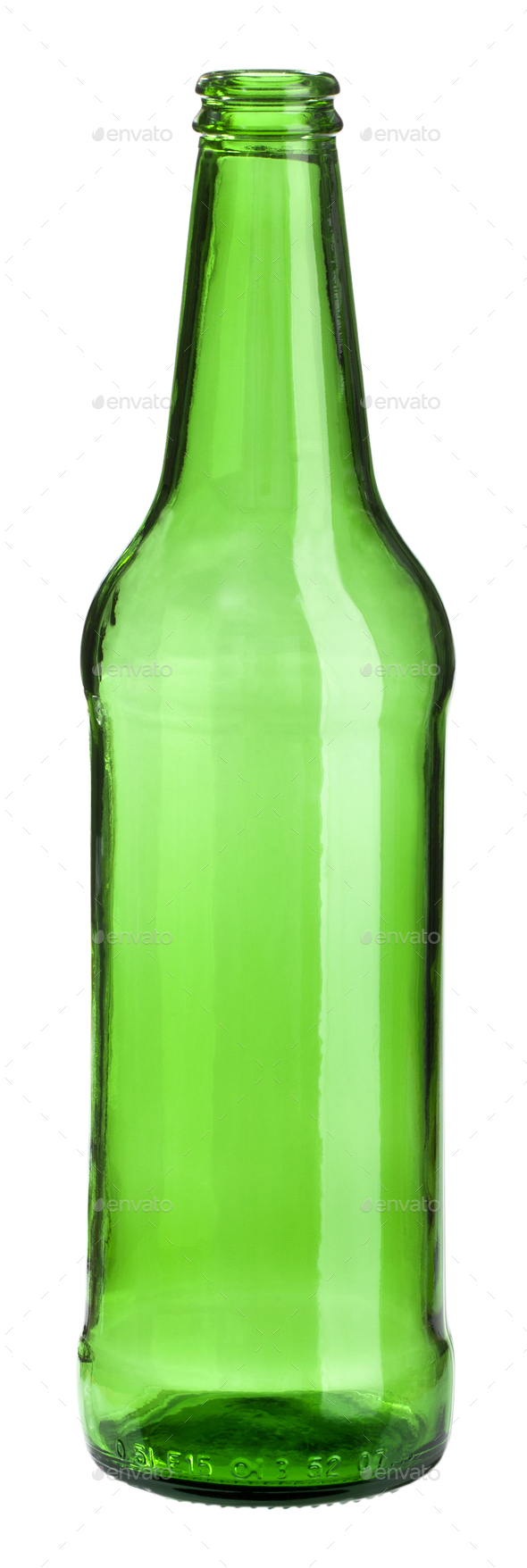 empty green bottle - Stock Photo - Images