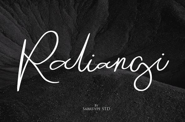 Raliangi Font - Hand-writing Script