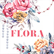 Flora. Watercolor Flowers. Frames & Wreaths - GraphicRiver Item for Sale