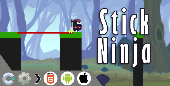 Stick Ninja HTML5 Game - CAPX file for Construct 2 & 3 ) - CodeCanyon Item for Sale