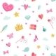 Vector Cute Cartoon Magic and Fairytale Pattern