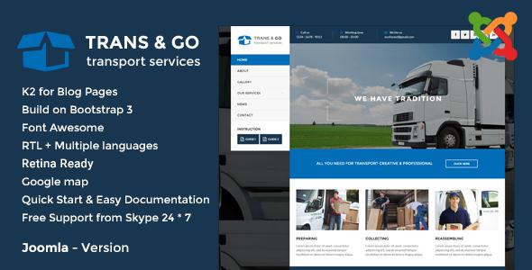 TransGo - Transport & Logistics Joomla Template - Business Corporate