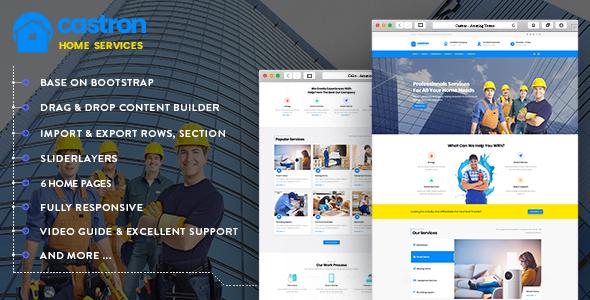 Castron - Home Maintenance, Repair and Improvement Services Drupal 8.6 Theme - Business Corporate