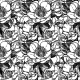 Vector Seamless Pattern with Peony Flowers. - GraphicRiver Item for Sale