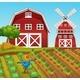 Rural Farm And Barn Landscape