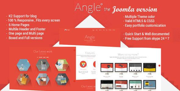 Angle - Responsive MultiPurpose Joomla Theme - Corporate Joomla