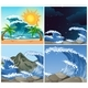 Ocean Scenes With Big Waves Day And Night - GraphicRiver Item for Sale