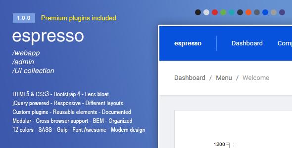 Espresso - A Responsive Bootstrap 4 webapp admin panel