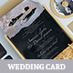 Sparkling Wedding Invitation Card