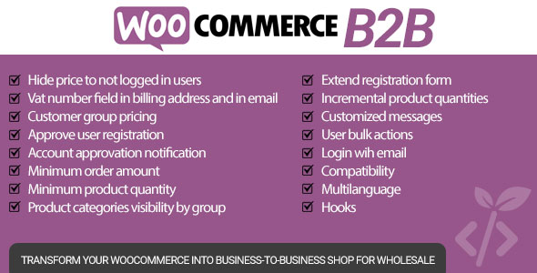 WooCommerce B2B - CodeCanyon Item for Sale
