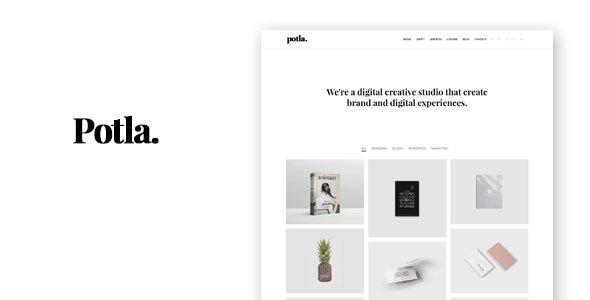 Potla - Minimal Portfolio HTML Template - Portfolio Creative