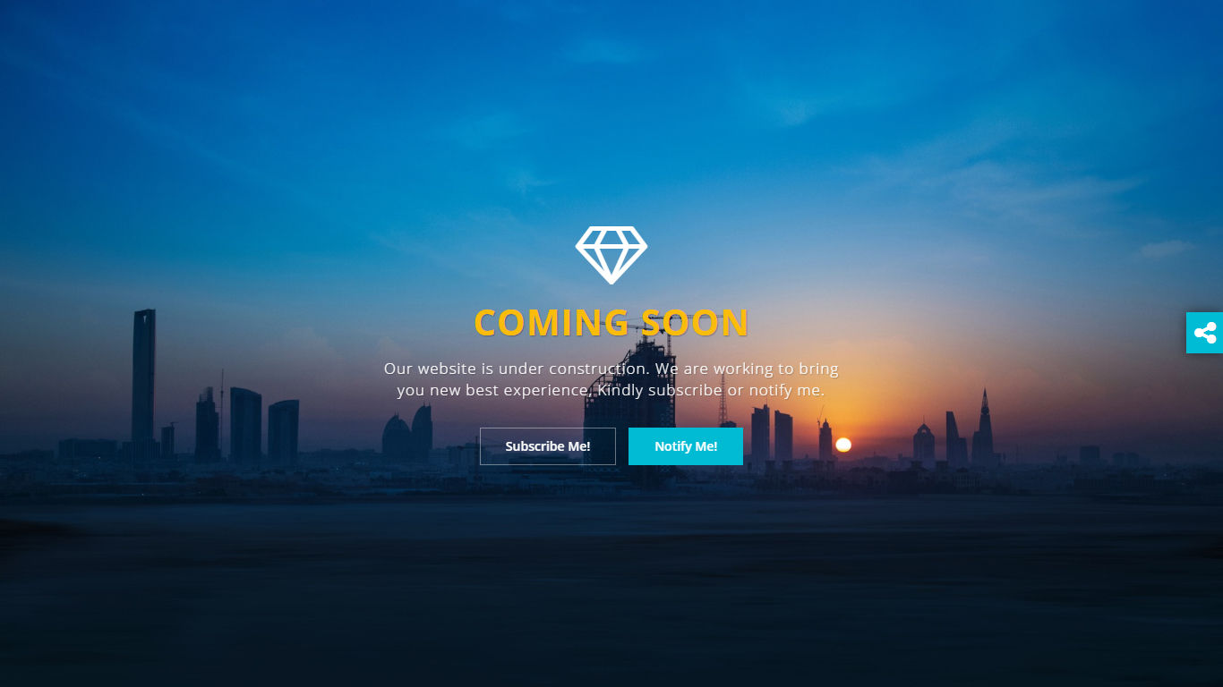 Diamond Coming Soon Page Html Template By Designcollection
