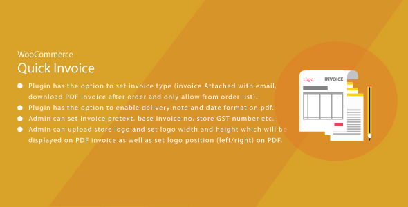 Wordpress WooCommerce Quick Invoice PDF            Nulled