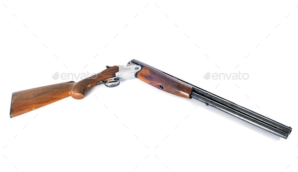 shotgun in studio - Stock Photo - Images